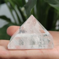 Wholesale HJT g Natural clear crystal pyramid nunatak Reiki Healing clear crystal quartz pyramid decoration mm mm