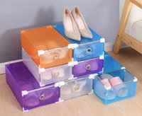 Wholesale Newest PP Container Box Storage Drawers Shoes Box Woman Shoes Box Kids Shoes Box Transparent Shoes Box for Home