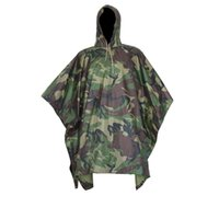 Wholesale Buy Cheap Dual use multi purpose camouflage raincoat Discount Fashion Outdoor Travel Raincoat Cycling camouflage poncho Outlet