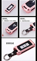 aluminium alloy series - Gold For All SMITSUBISHI series Aluminium Alloy Car Key Case Bumper Cover Shell With Leather Keychain