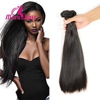 best malaysian hair extensions - Brazilian Human Hair Extensions Malaysian Peruvian Mongolian Cambodian Unprocessed Straight Hair Bundles Dyeable Best Quality Hair Weave A