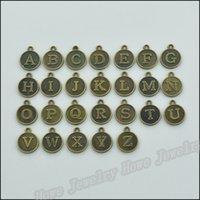 Wholesale Vintage Charms Alphabet Pendant Antique bronze Fit Bracelets Necklace DIY Metal Jewelry Making