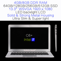 Wholesale 13 inch Intel i7 gb ram GB SSD hard disk gaming game laptop LED backlight LCD Win7 Win8 Notebook Ultra slim ultrabook C6 i7