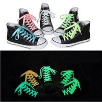 1 m 100pcs / 50pairs brillante color luminoso cordones de los zapatos zapatillas de deporte del resplandor fluorescente luminoso cordones de zapatos cordones Cuerdas reflexivo de la seguridad Cordones 5