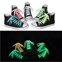 Wholesale 1m pairs Bright Color Luminous Sneakers Shoelaces Glow Fluorescent Luminous Shoe Laces Bootlaces Strings Reflective Safety Laces