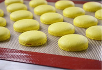 Wholesale 40 cm Glass Fiber Food grade Silicone Baking Mat Nonstick Pastry Mats Macarons Pad Can Put the Oven