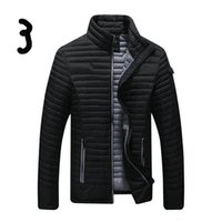 Wholesale 2016 new arrive fashion slim Men s down coat men s Outerwear Stand collar light down jacket casual black men s coat