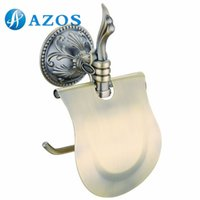 Wholesale AZOS Wall Mounted Toilet Paper Holders Bathroom Accessories Shower Hardware Components Antique Brass Color GJKE2605D