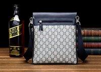 6 Leather Style Moda Uomo Plaid Cartella Croce Body Borse Messenger multifunzionali borse a tracolla portatile da DHL