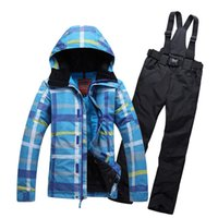 Wholesale Brand winter ski suit for women thermal windproof breathable snowboard coats and pants set female thicken cotton skiing clothes