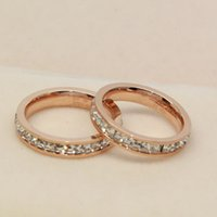 Wholesale Promotion High Quality Lovers Rings K Rose Gold Charms L Stainless Steel Diamond Stone Diamond Wedding Rings Jewelry