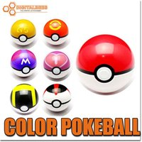 hot toys figure - Hot popular colorful toy ABS Pokeball cartoon ball game gift figures cm For iphone samsung game for kids children