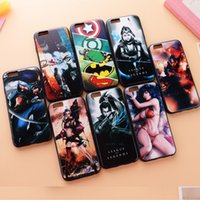 apple unions - Newest D Relief Embossing Heroes union relief series phone Back Case Cover For iPhone S plus PC TPU matte in