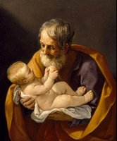 abstract jesus - Salome Guido Reni St Joseph and baby Jesus Pure Hand Painted Fine Art Oil Painting Canvas any customized size accepted