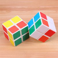 Wholesale Pocket Cube Mini Cube Plastic stickerless x2x2 magic cube two layer Magic cube for chilldren and education toys