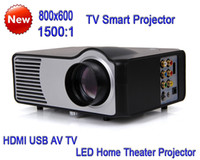 Wholesale 2016 New TV Function lumens Digital Video LED Projector Game Projectors TV Smart Projector