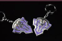 Wholesale New Arrivals Dota Pioneer Shield Personality Model Chain Key Chains Metal Keychains Fashion Games Jewelryl Key Ring