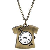 analog t shirts - Quartz Pocket Keychain Style Watch Vine Bronze Tone T shirt Watch PHM696W