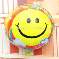 air balloon festival - lassic Toys Balloons set inch round happy smile face foil air balloon birthday festival party decorations helium balls holiday glo