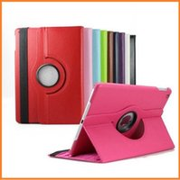 Wholesale 360 Degree Rotation smart Stand PU Leather Case Cover For Apple for ipad air mini mini Retina Samsung galaxy Tab tab