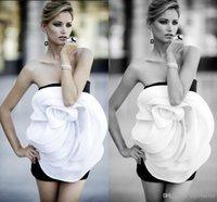 american made shirts - European American White Black Vestido de Festa Handmade Flower Mini Short Homecoming Prom Party Gowns Dress