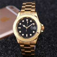 alloy sheets - The new stainless steel bracelet black dial child quartz battery M sheet date men and women sports watch
