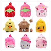 Wholesale Christmas gifts the mini plush candy bags backpack withfoot School bag for Children s plush bag best toy for grils