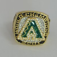 arizona championship ring - New Vintage Fashion Gold Plated Enamel Inlay Rhinestone Arizona Diamon Dbacks baseball Championship Rings Replica RI