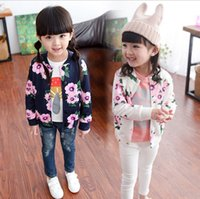 baby garment buttons - Fashion Girls Shivering Autumn Coat Kids Cardigan Baby Girl Children Floral Big Flower Outwear Long Sleeve Jacket Up Garment