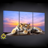 art scroll printing - 5 p canvas print modern wall art wall poster high definition photo subjects the tiger