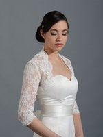 Wholesale High Quality Wedding Bridal Wraps Jackets With Illusion Long Sleeves Cheap Custom Wedding Bolero Wraps