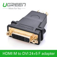 Wholesale Ugreen HDMI to DVI female to HDMI male Converter adapter Support P for HDTV Plasma DVD Projector