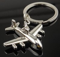 airplane keychains - Polished Aircraft Airplane Model Metal Keychain Key Chain Ring Key Fob