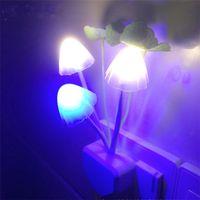 automatic night light switch - EU US Plug for choose Romantic Colorful LED Mushroom Night Light Bed Lamp Home Illumination Light sensor automatic startup