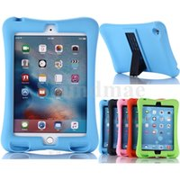 air china safety - High quality Light Weight Kids safety Silicone Tablet Case Shock Dust Proof Stand Cover For ipad Air ipad mini