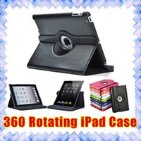 Wholesale Lenovo Metal Case - ipad case Apple iPad 2 3 4 Mini 1 2 3 4 Air 2 Pro 360 Rotating Stand Smart PU Leather Cases Cover