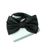 Wholesale Black Bowtie Adult Men Tuxedo Solid Color Butterfly Male Wedding Polyester Adjustable Bow Tie Cheap Good Quality Fashion Bowties