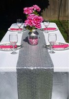 Wholesale High Quality Red Sequin Table Runner x180cm Choose Your Color Sparly Wedding Event Sequin Table Runner