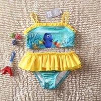 baby sun swimsuit - 2016 Finding Nemo Dory Baby Kids Swimsuit Two Pieces Nemo Dory Girls Tutu Dress Bikini Summer Sun resistant Swimwear Beach Bathing Clothes