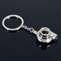 automotive turbine - 10Pcs Creative Automotive Turbo Charger Keychain Blower Car Key Ring Spinning Tuning Racing Turbine Key Chain Jewelry