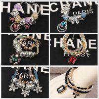 azure gemstone - New Brand Fashion Girls Restore Ancient Ways Azure Stone Gemstone Hand Chain Women Bracelet Bangle DIY Beaded Bracelet For Ladies