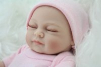 baby mini romper - NPK Mini Reborn Baby Doll Girl quot inch Girl Gift Silicone Full Vinyl Babies Toys Lifelike Newborn Pink Romper
