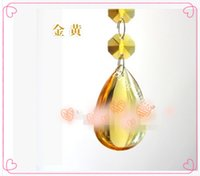 Wholesale 38mm smooth bead curtain hanging crystal pendant DIY partition material crystal lamp accessories