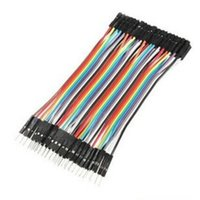 Wholesale 40pcs CM jumper Wire Ribbon Cable for Arduino Male To Female Dupont Line Male Female Dupont Cable