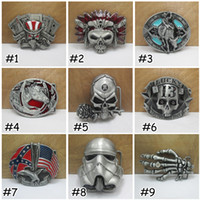 Wholesale Mens Skull Head Star Wars Belt Buckle Confederate Southern South Jeans Decorative Metal Belt Buckle Styles Cool Gift E875L