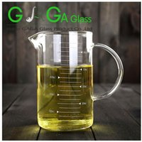 Wholesale high borosilicate glass measuring cup with spout ML