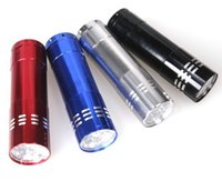 aluminium lamp - Portable CREE LED UV Light Flashlight Hiking Torchlight Aluminium Alloy Money Detecting LED UV Lamp Light with Box