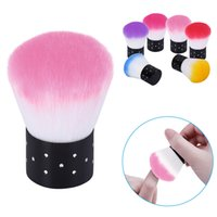 Wholesale 6pc Colorful Nail Brush Dust Cleaner Acrylic UV Gel Nail Polish Art Decor Nail Tools
