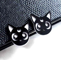 accessories cats - Fashion New Cute Acrylic Black Cat Stud Earrings Female Personality Hip Hop Club Jewelry Accessories