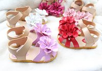 Wholesale 2016 summer girls beach shoes angel baby toddler shoes flower princess sandals yards kids outdoor shoes cheap shoes pairs TP